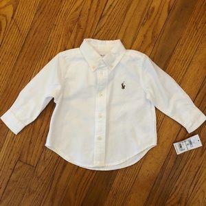 NWT Ralph Lauren white button up
